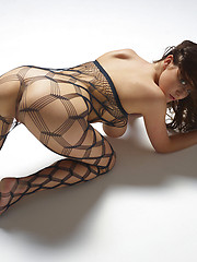 Young model Marjana in body stocking