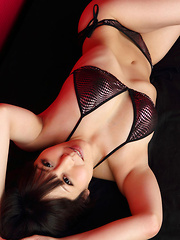 Maria Akamine Asian on heels is very hard to resist in lingerie