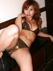 Mika Inagaki Asian shows hot body in bath suit all over the place